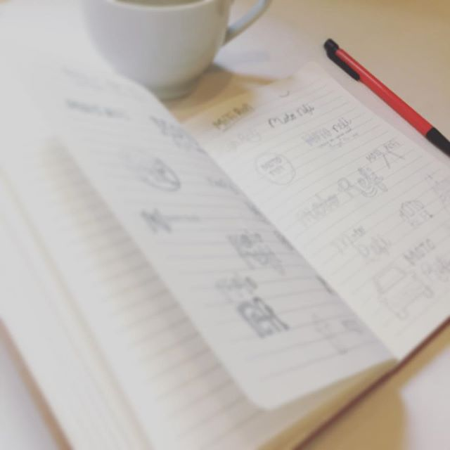 It's been a day full of a sketching (and coffee). #itjustclickeddesign #logodesign #branding #sketchandcoffee #freelancedesigner