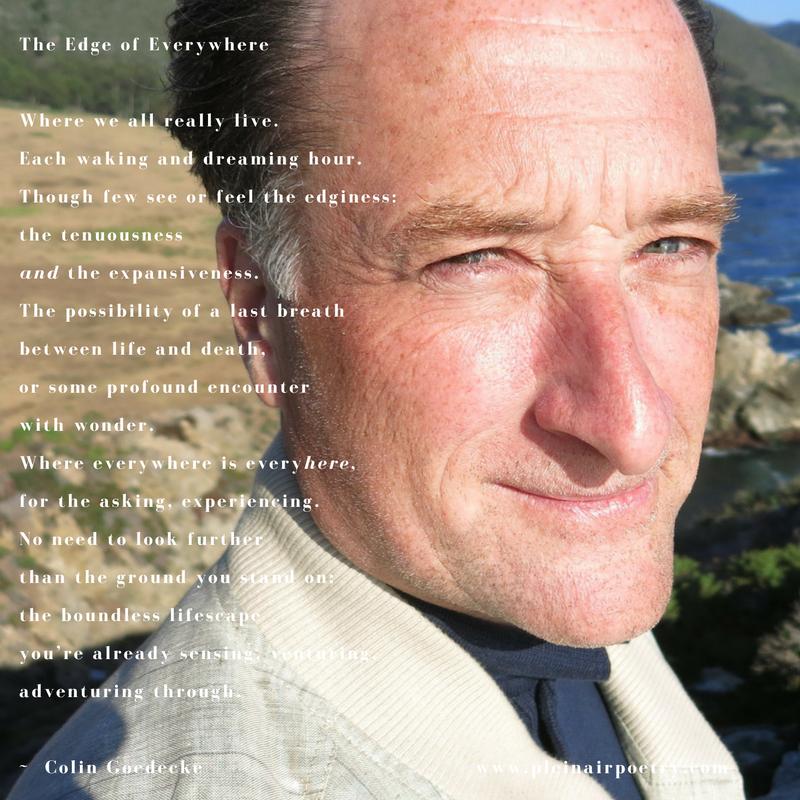 the    plein air poet    & poetorialist, colin goedecke, big sur, california