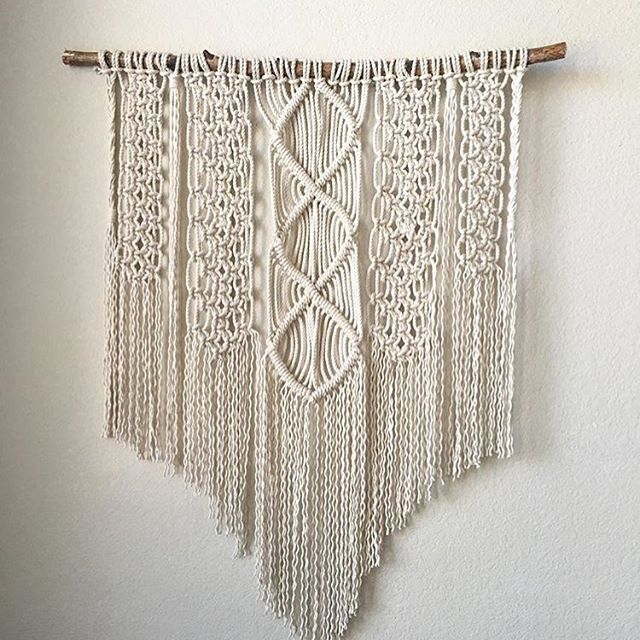 Look at those knots 😍 on this intricate wall hanging by Hailey Waters, our macrame plant hanger instructor this Saturday. Be sure to register for her class that will be held @rossiandking in the Design District. Registration link in bio!  #repost @thewatersmark