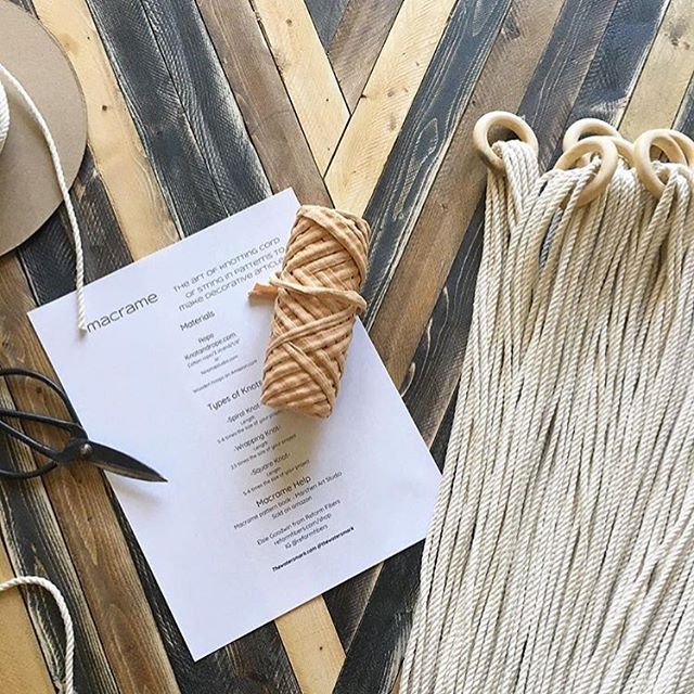 Tomorrow is the day! You still have time to sign up for how to make a macrame plant hanger. Register at knowhowdallas.com! 📸 by  @thewatersmark
