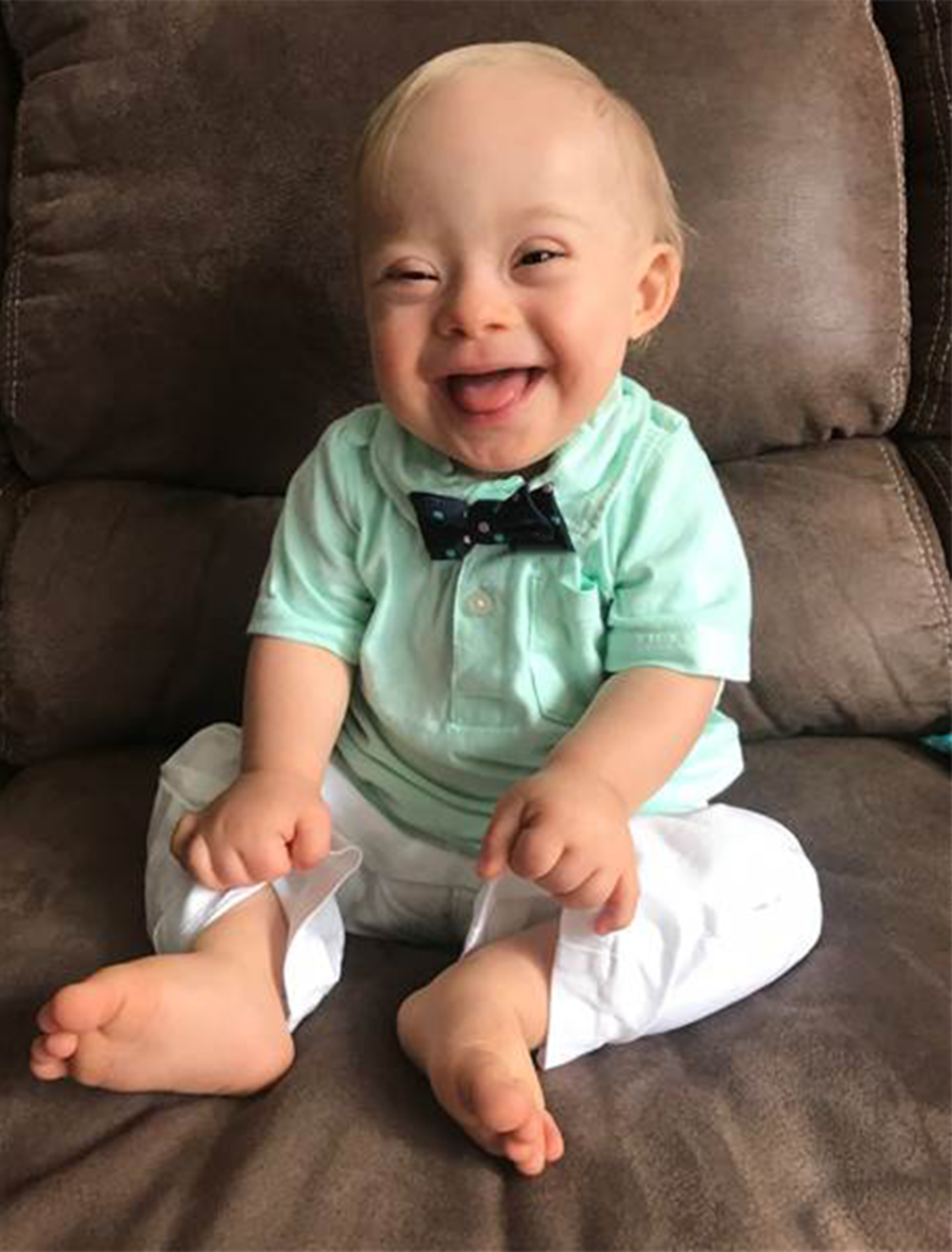 Meet Lucas, the official Gerber baby of 2018 - Gerber wanted to extend their brand beyond just baby food and break into the prestigious world of baby fashion. So we put together a campaign that uses Lucas's contest-winning photo to create his very own line of bow ties to go ga ga for.All proceeds from the bow ties go to charity.