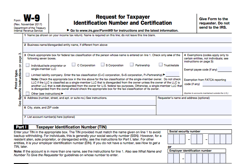CLICK HERE TO DOWNLOAD A NEW W-( FORM FOR TAXES