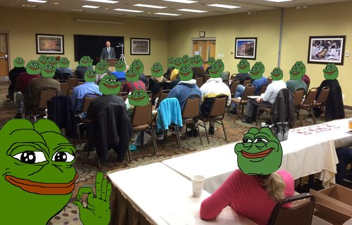 Approximately fifty people listened to James Edwards of The Political Cesspool lecture about the Alt-Right phenomenon.