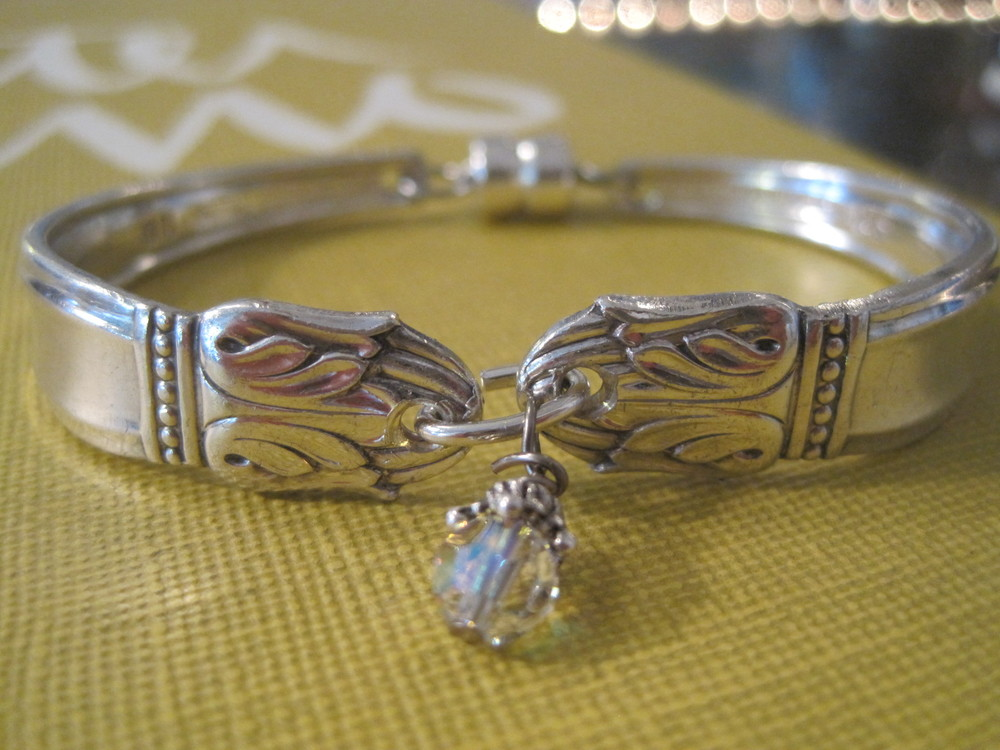 Spoon Bracelets with Swarovsky Crystals