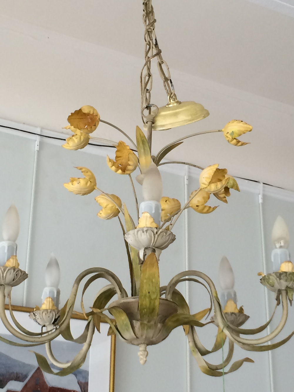 Vintage Italian tulip chandelier