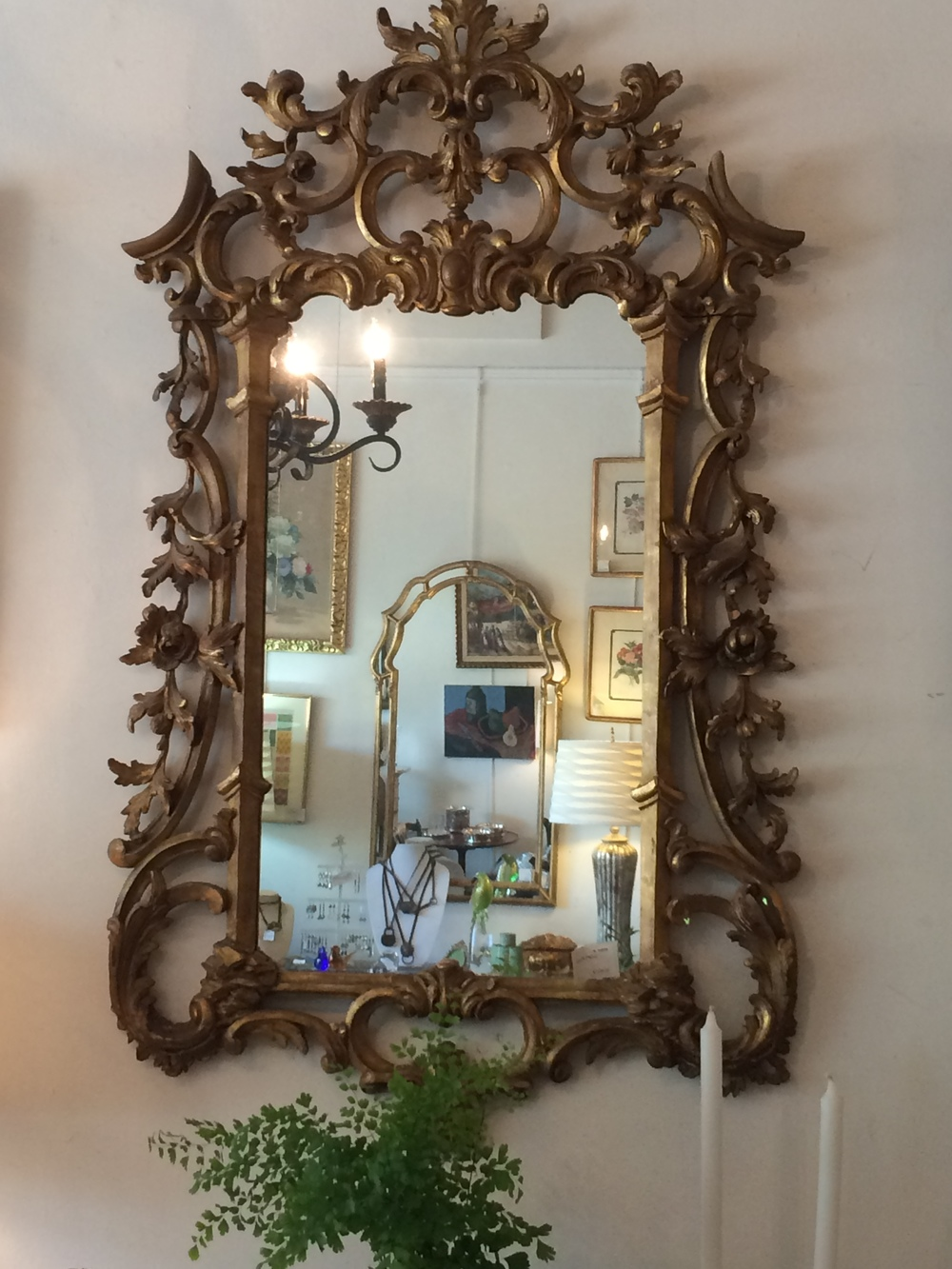 Fabulous hand carved and gilded mirror