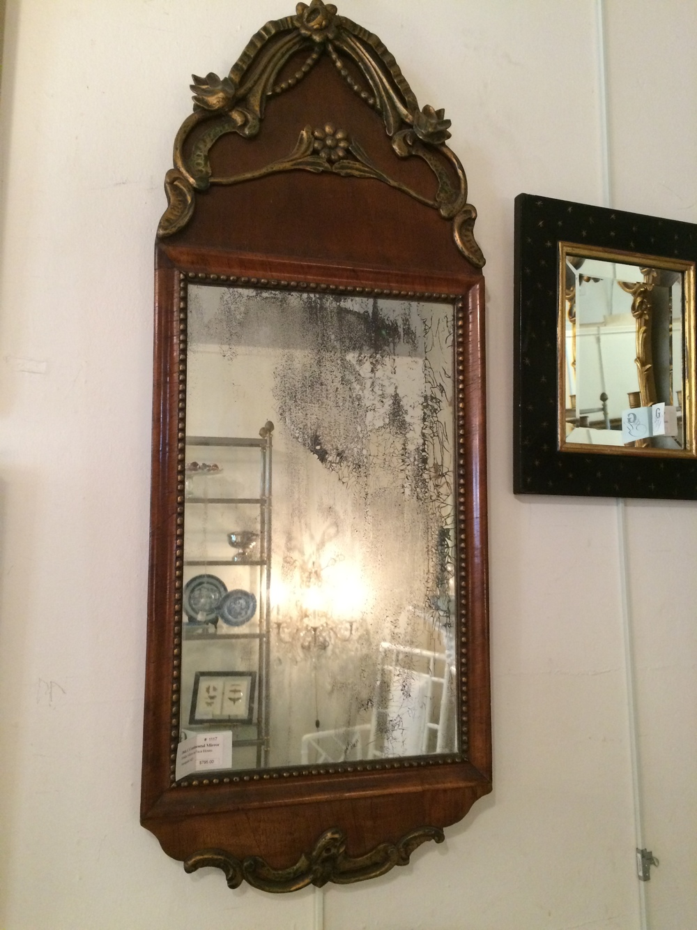 18th century continental mirror (similar piece in Paca House, Annapolis)