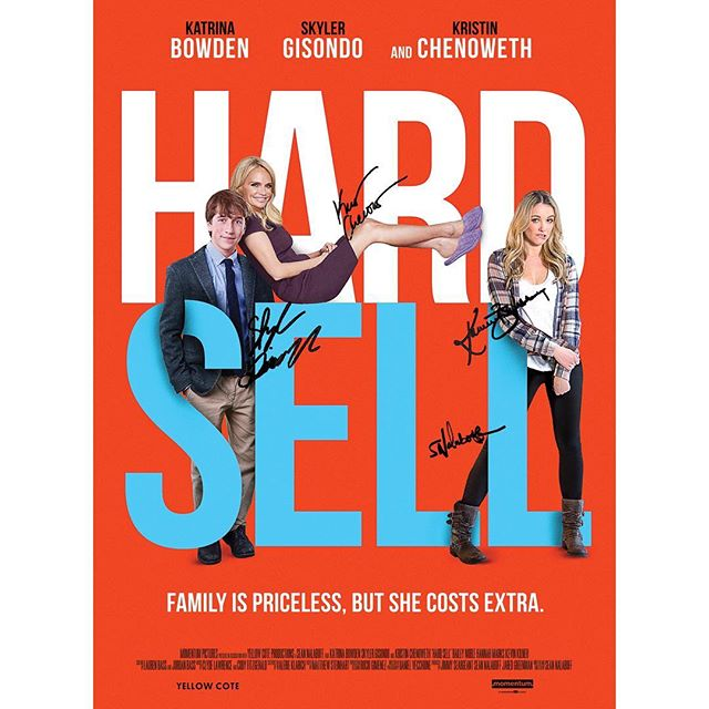 What's your fav #hardsellmovie moment? Tell us using #hshighlights for a chance to win a signed poster! @kchenoweth @katrinakbowden @skylergisondo_og @seannalaboff