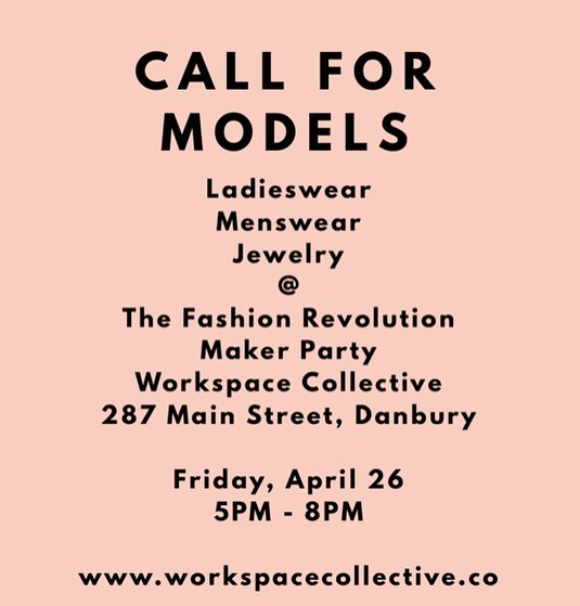 Want to join Fashion Revolution, but you're not a designer or maker? Why not model for our Makers Party on April 26 from 5PM - 8PM? You don't have to model the whole time, and you can wear some sweet, sustainable fashion✨ DM for details✨ . . . #fashionrevolution #fashrev #fashrevusa #ethicalstyle #sustainablefashion #sustainablestyle #slowfashion #morewithless #ethicallymade #consciousconsumer #consciousfashion #consciousculture #consciouscloset #springfashion #sustainablefashionblogger  #upcycledclothing #fairtradefashion #artisanmade #livelifecurated #livelifeconsciously #theartofslowliving #dowhatyoulove #startwithwhy #getdowntowndanbury