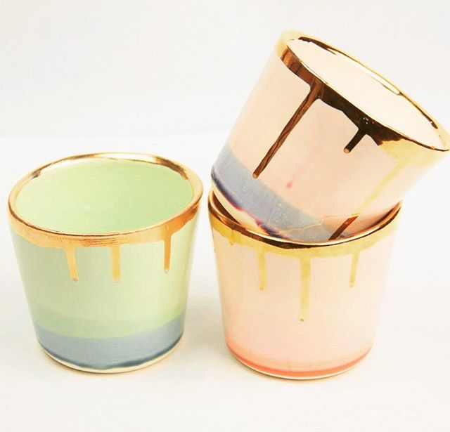 New goodies in the shop✨ These lovely tumblers are handmade from porcelain clay, dipped in four glazes, and finished with a 22k gold luster rim. Perfect for hot or cold drinks - I mean it's almost 5:00 somewhere✨ Available in-store only✨ . . . #ceramics #handmade #artisanmade #ethicalstyle #ethicalconsumer #sustainablestyle #simplestyle #morewithless #livelifeconsciously #theartofslowliving #dowhatyoulove #startwithwhy #getdowntowndanbury #wearedowntowndanbury #discoverdanbury