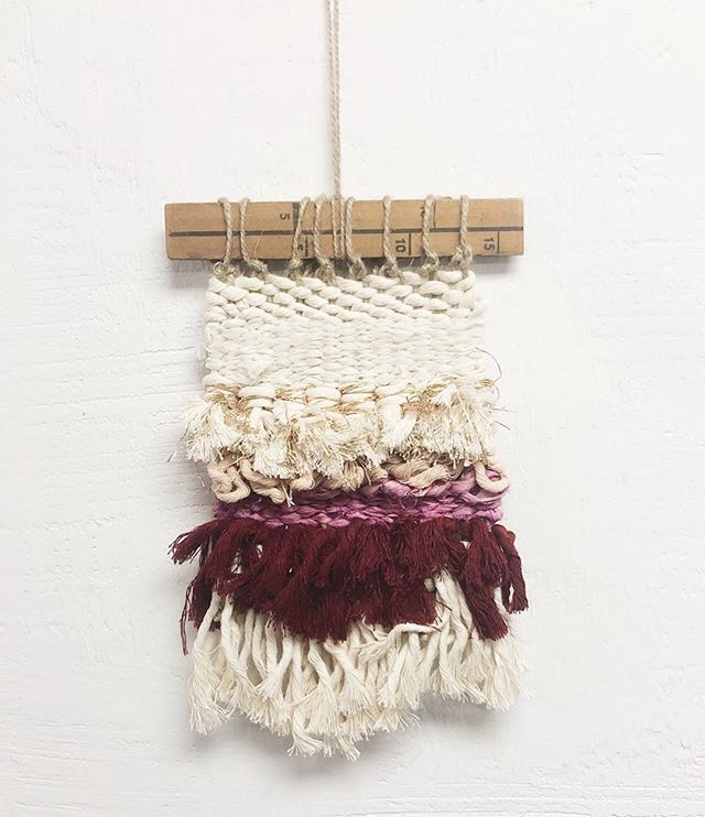 This little weaving has lots of goodies in it✨ Cotton rope, upcycled sari, and naturally dyed fiber. Pulled together with vintage yardstick hanging, this weaving is perfect for accenting an office space or room. Hand made with love by @thebateswoodcompany. What's not to love? . . . #ethicalstyle #ethicalconsumer #sustainablestyle #simplestyle #morewithless #ethicallymade #consciousconsumer #consciousculture #springfashion #fashionrevolution #fashrev #sustainablefashionblogger  #artisanmade #livelifecurated #livelifeconsciously #theartofslowliving #getdowntowndanbury #wearedowntowndanbury #discoverdanbury