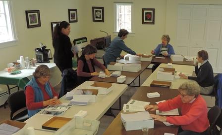 Volunteers Prepare a Mailing-r.JPG