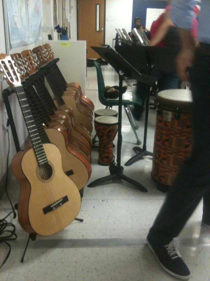LITTLE KIDS ROCK  provides instruments for a local classroom.