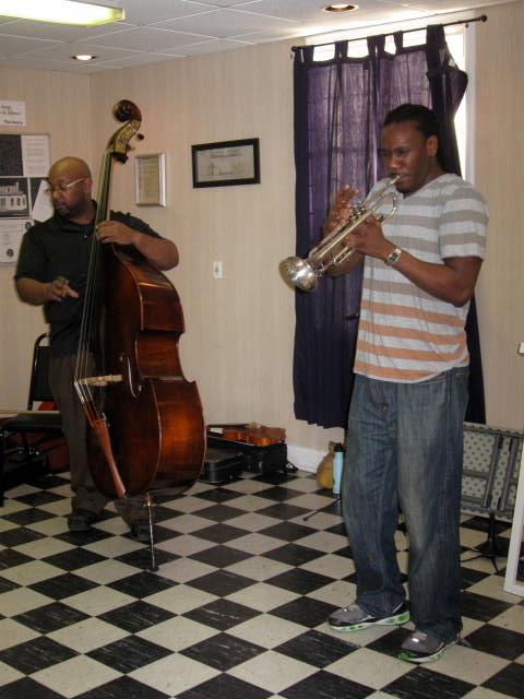 "FELLOWS DAVID PULPHUS AND TROY SAWYER perform at St. AnNa's EPISCOPAL CHURCH, ""ANNA's place"" community Program for young people. (2011)"
