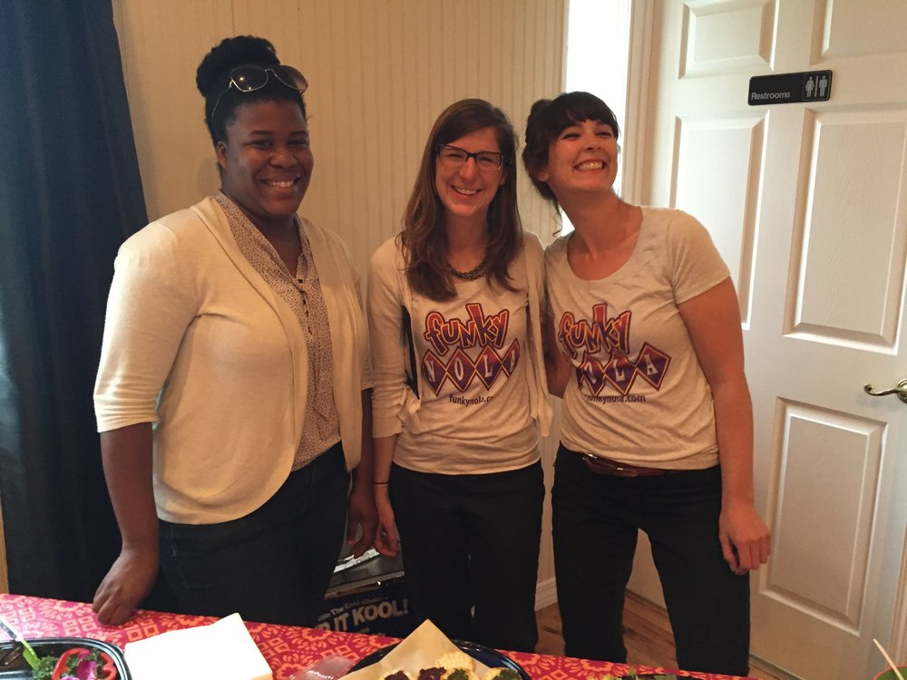 alums rÉshanda yates, Audrey smith and rebecca crenshaw support a fundraiser to send students to Music camp through local program  musicollaborative , Led by Kaya martinez. (2015)