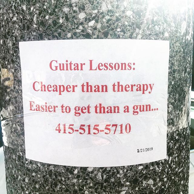 To whoever posted this, that you for making me smile.. this is great. But seriously, I think the world would probably be a better place if more people took guitar lessons..
