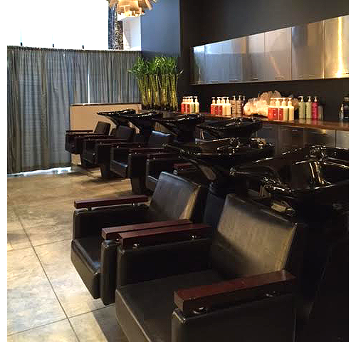 Cleansing station at our hair salon in Beverly Hills, CA