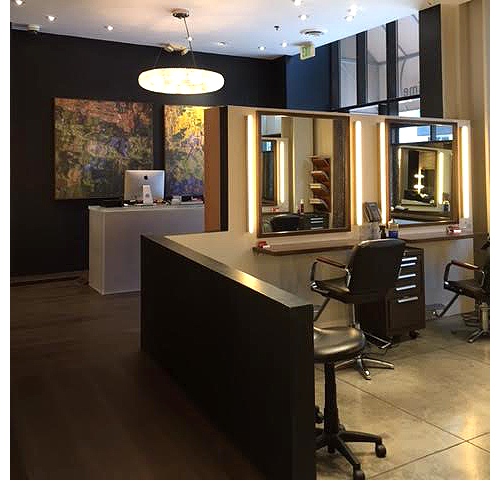 Reception desk of our Beverly Hills hair salon