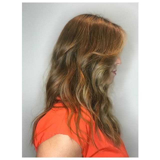 She's on her way to blonde from red/orange broken hair, can you tell she's happy? SWIPE to see more Cut&Style: @serinamhair  Color: @colorbyelenawong #salonmaxime #serinamhair #colorbyelenawong #haircut #hairstyles #hair #hairart #rodeodrive #beverlyhills #youthfulandfun #hairart #hairfun #sassy #color #haircolor #balayage #colorcorrection