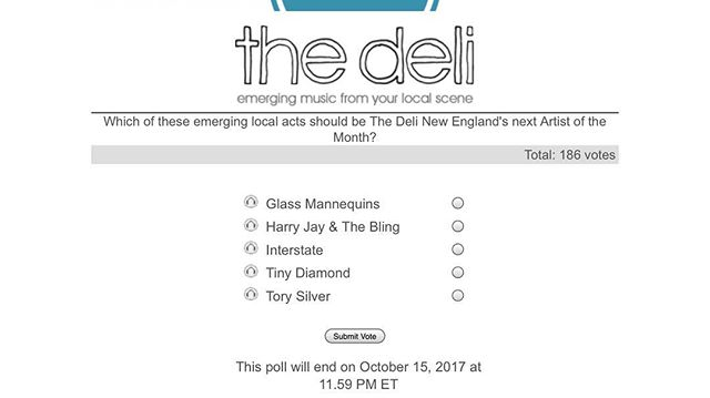 EXCELLENT NEWS, WE'VE BEEN NOMINATED FOR ARTIST OF THE MONTH!! VOTE FOR @interstatema HERE:  http://newengland.thedelimagazine.com/poll/poll.php?category=4