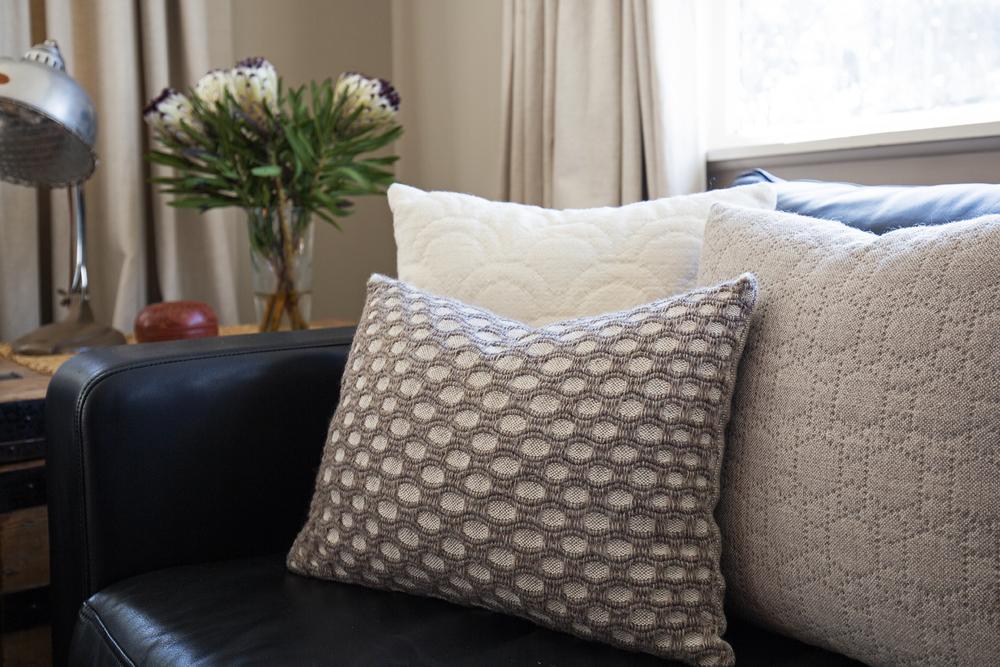 New Zealand wool cushion