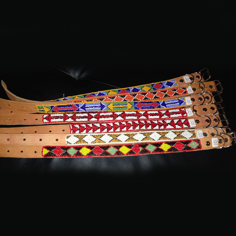 Children's Beaded Belts   $10.00 (Cash/Cheque) | $12.75 (Credit)   Representing Kenyan culture each of these belts have a unique beaded design. Approximately 23 inches in length.