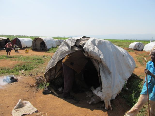 IDP Camp tent, housing a family of 10.