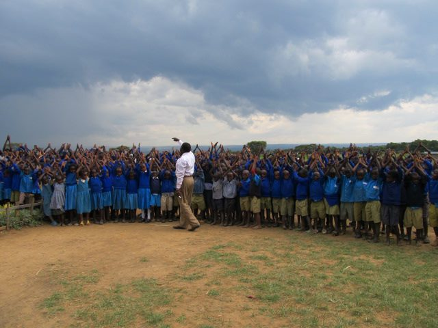 Group of students at Shalom Primary School saying their Good-Byes to K.I.D.S. Initiative.