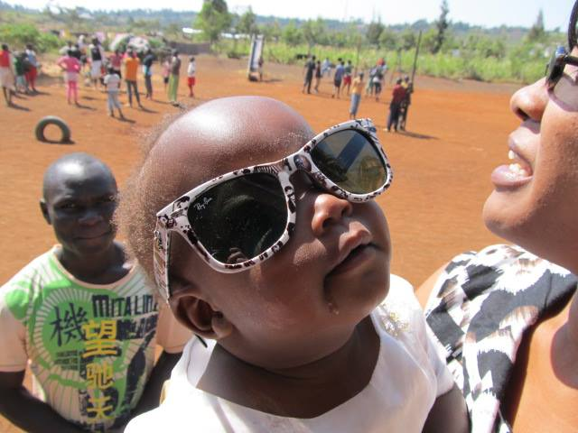 Mila, the youngest at Mama Tunza Children's Centre styling some cool shades!