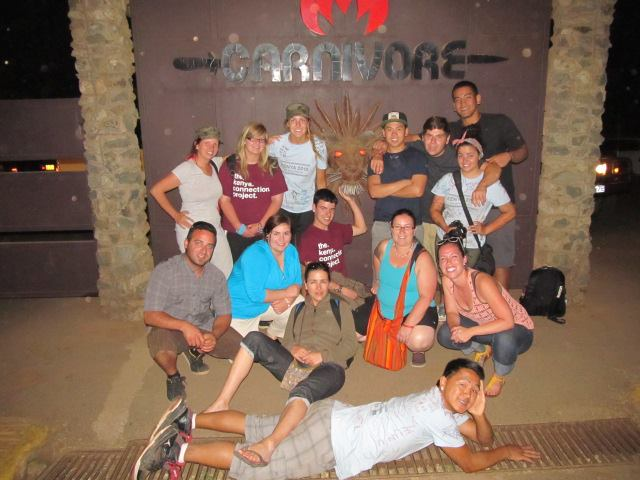 Last group picture with the Maples Kenya Connection Group as they depart for the airport. Safe flight home you guys!