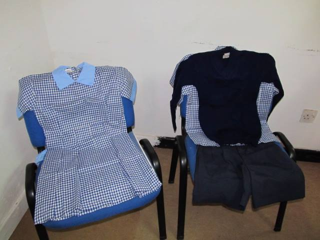 K.I.D.S. Initiative purchased over 400 school uniforms for the Ndii-ini Primary School!
