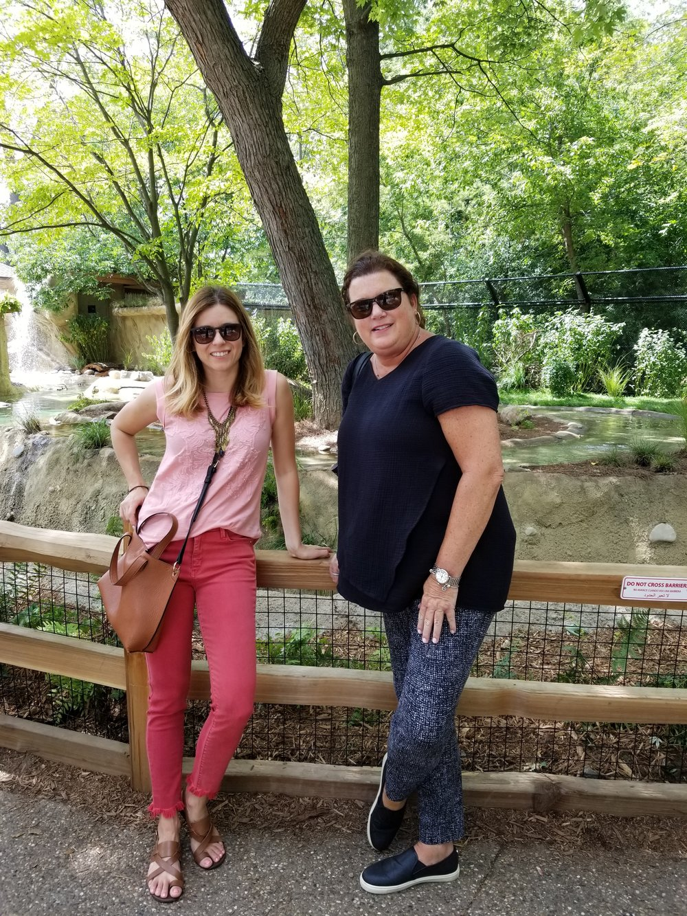 Workplace Consultants Nives and Mary Jo enjoying the zoo.