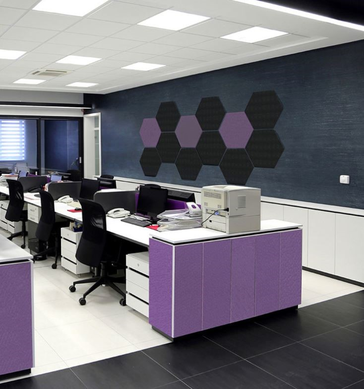 Can't forget about the acoustics in your space- EzoBord has got your back! EzoBord has an amazing Deep Purple finish that shows off the Color of the Year expressively.
