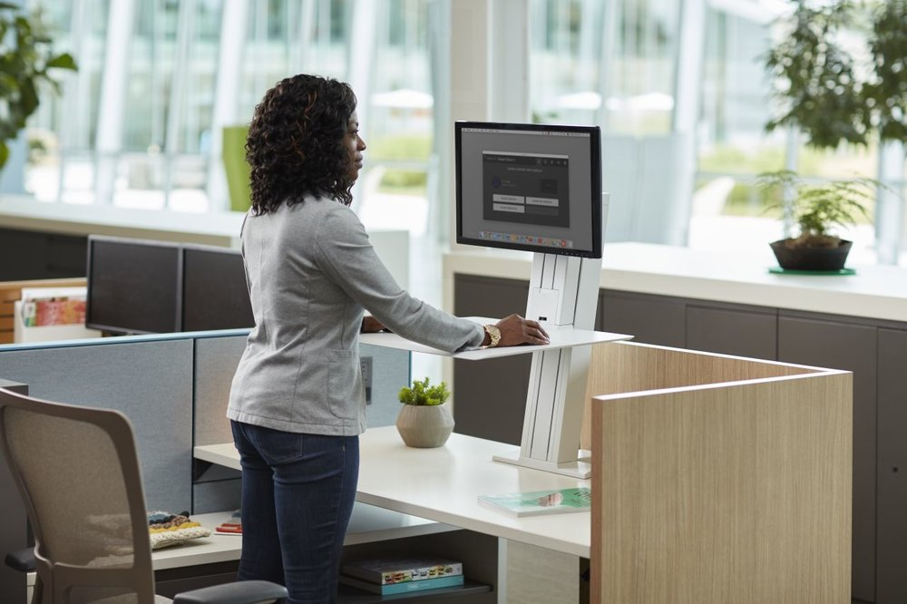 Ergonomic Products - Height adjustable surfaces, monitor arms, keyboard trays and so much more will keep your team comfortable, productive and healthy. Investing in ergonomic products has been shown to increase engagement and reduce overall healthcare costs.