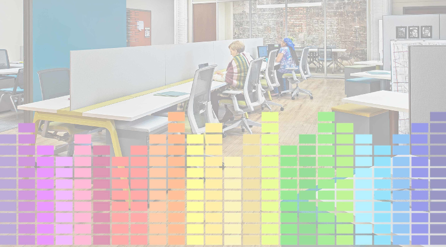 Another solution for reducing workspace anxiety is the use of sound masking to help filter out the distractions of other noises. Cambridge Sound Management offers sound masking systems that reduce the intelligibility of speech, making it less of a distraction while increasing speech privacy.