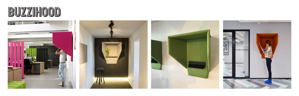 """Yes, this is the """"acoustic cocoon"""" you were looking for. This wall hung hood can be installed anywhere to help answer phones amidst noisy surroundings. Great for high traffic or focus areas."""