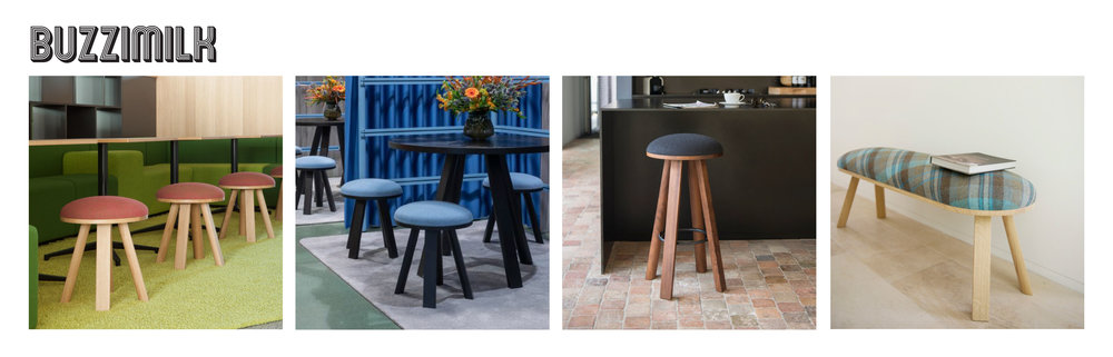 Rustic meets modern in this sturdy little stool with a cushion top that evokes a sense of warmth and modern simplicity for your ancillary or meeting seating.