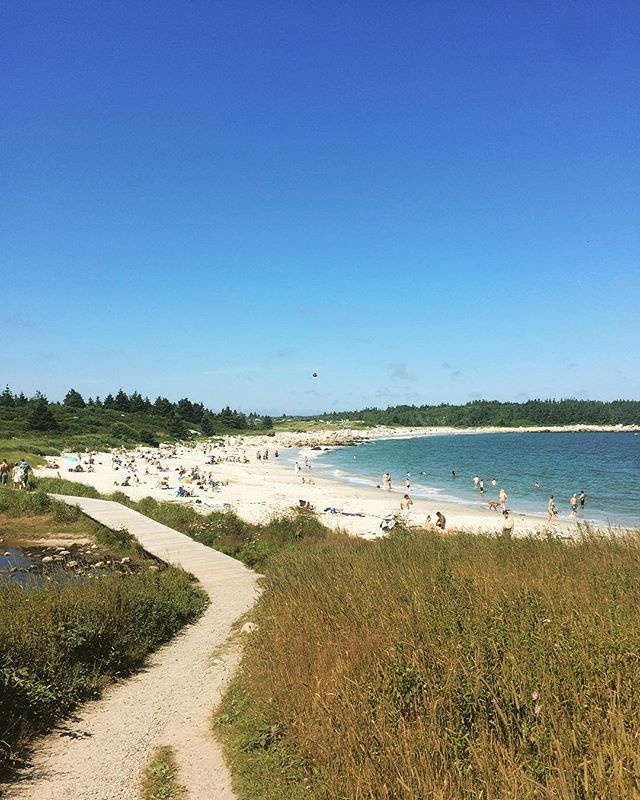 This is Crystal Crescent Beach located here in #Halifax #canadasoceancity what a beautiful day to take a walk along another gorgeous beach right here in Nova Scotia! 🌊