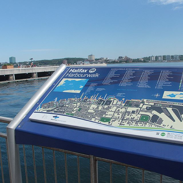 It's a gorgeous day out here on the #halifaxwaterfront once again. Come check out the map on your travels today & see some awesome views. Were you on the waterfront today? Tag us & hashtag your photo #canadasoceancity ! 🌊⛵️