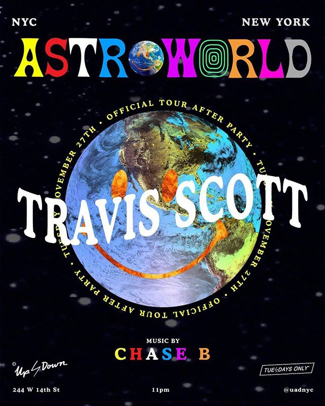 🌎TOMORROW🌎 Astroworld After Party🎡 @travisscott🎢 @ogchaseb🚀 #UADNYC