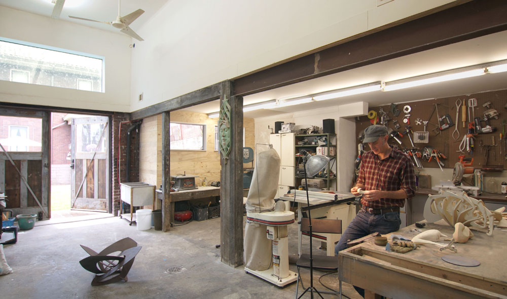 Woodworking and casting space.