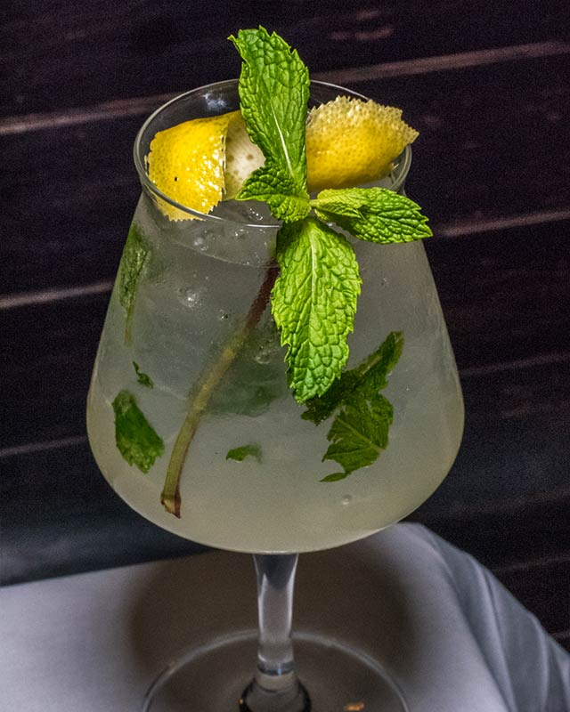 Ingredients: Grey Goose vodka, mint, lemon sorbetto