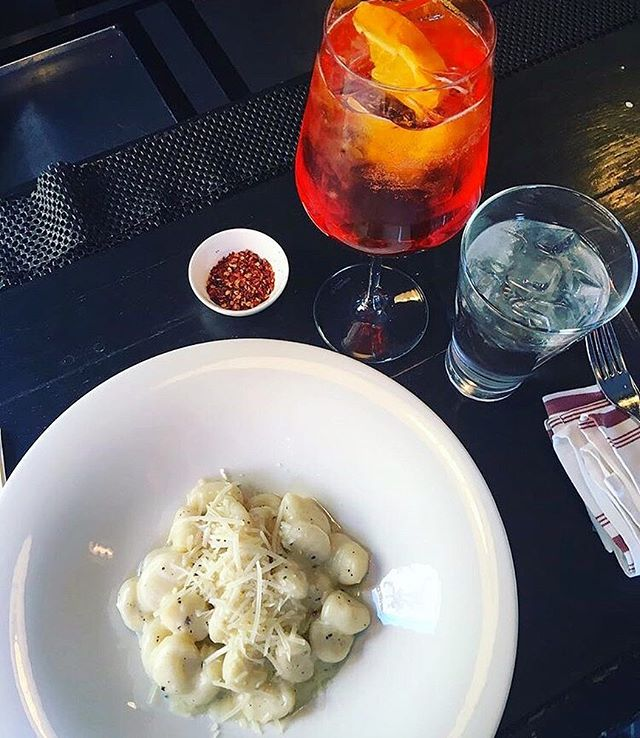 Sunday night dinner at #rossonyc… what could be better than gnocchi & a Spritz? (📸: @hillieack21)