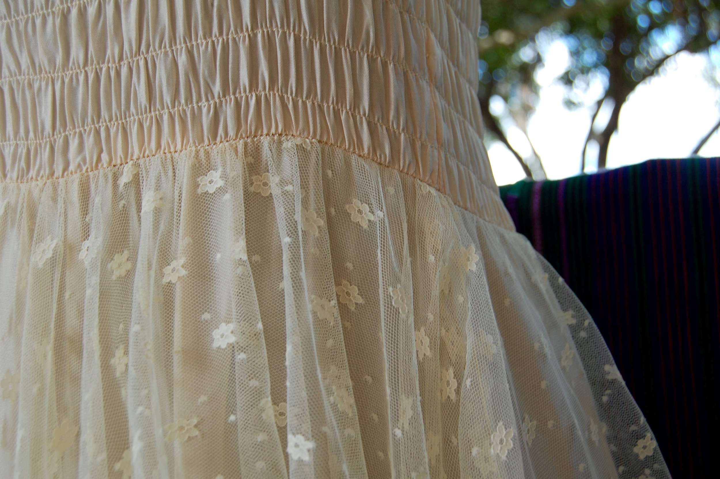 up close shot of some of Mark's vintage dresses, this got snatched up a few minutes after the picture was taken