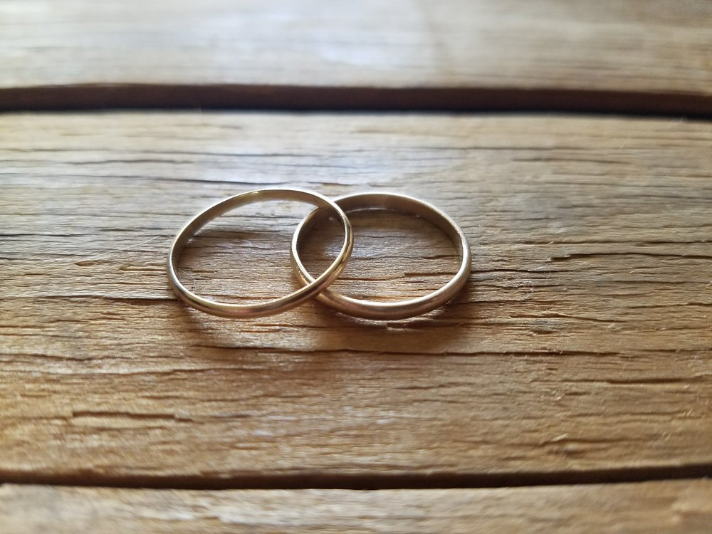 14k Gold Wedding Rings side view