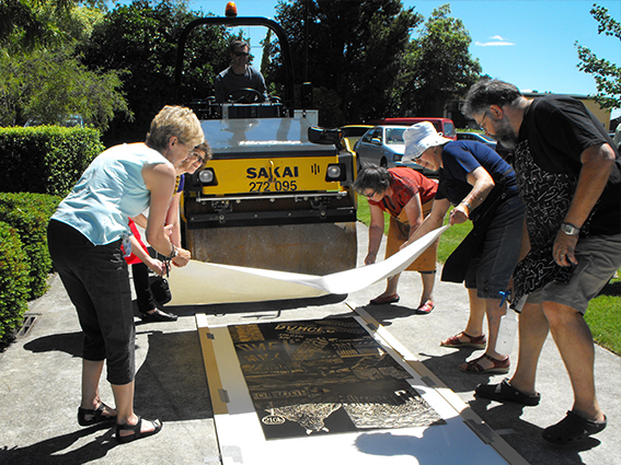 napier-woodcut-road-roller-print-council-summer-school-2012