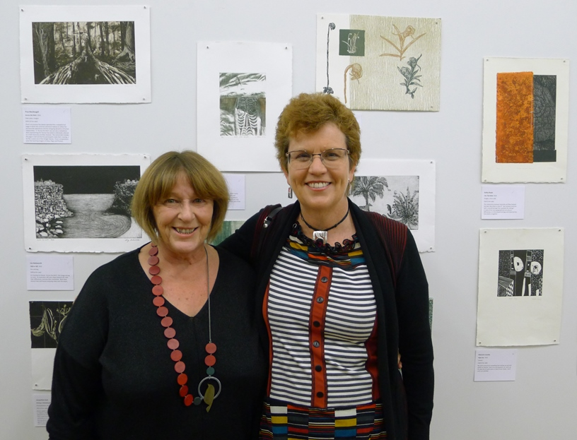 Organisers Kathy Boyle (NZ) and Glenda Orr (Brisbane) in Napier