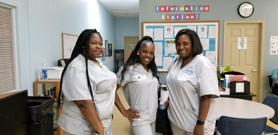 Home health aide students