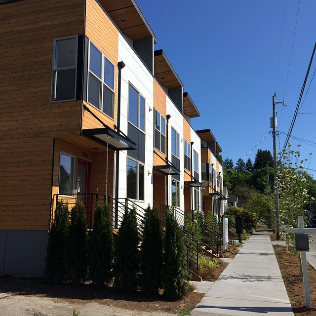 Inspecting a modern new construction home for a long time client 1 block off Alki Beach