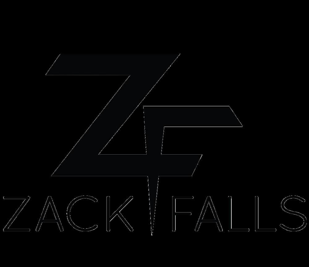Zack Falls Transparent Logo Black.png